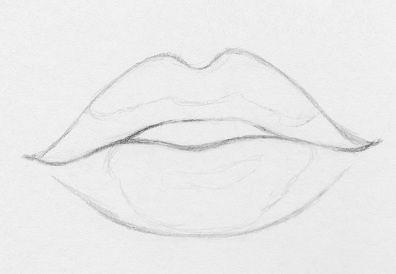 draw lips pencil steps realistic art