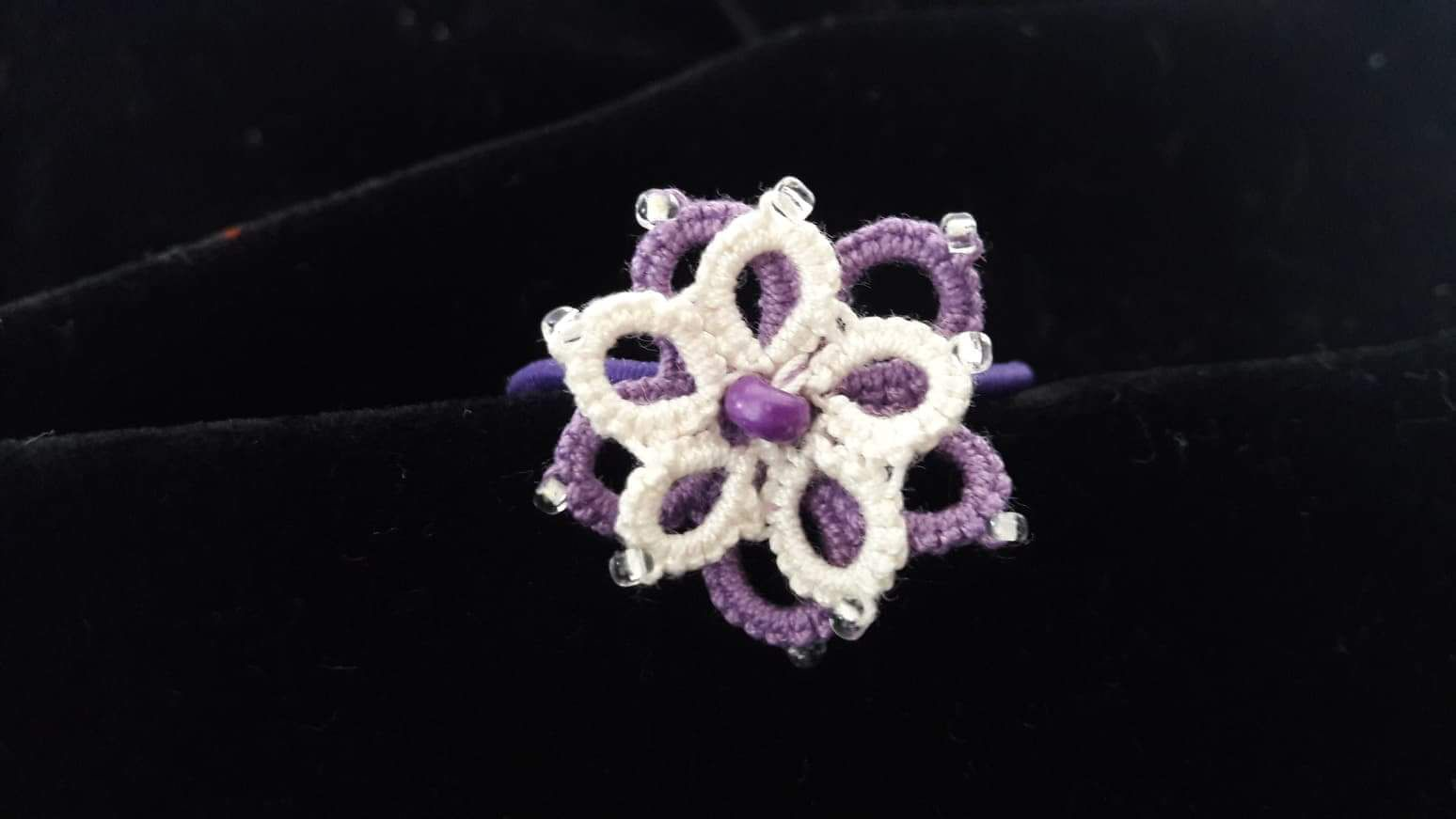 hair accessories lilac scrunchy cotton frivolité hairpin gift birthday pearl handmade tatting wedding bead beige