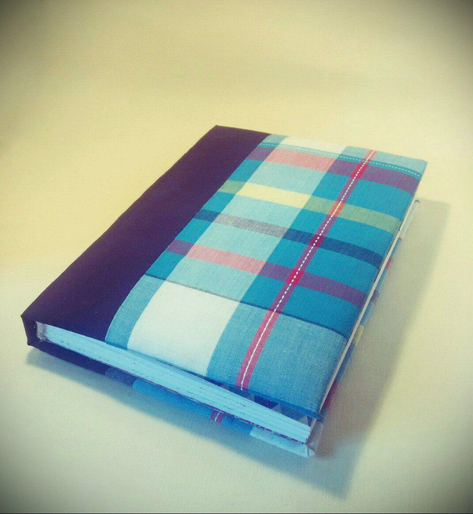 diary notebook handmade checkered