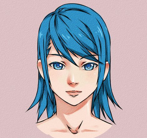 male female hair anime draw