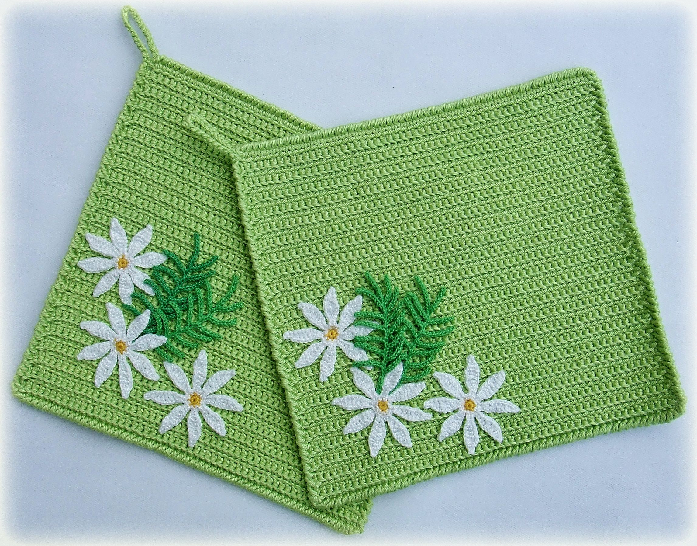 lunchmat potholder camomile flowers