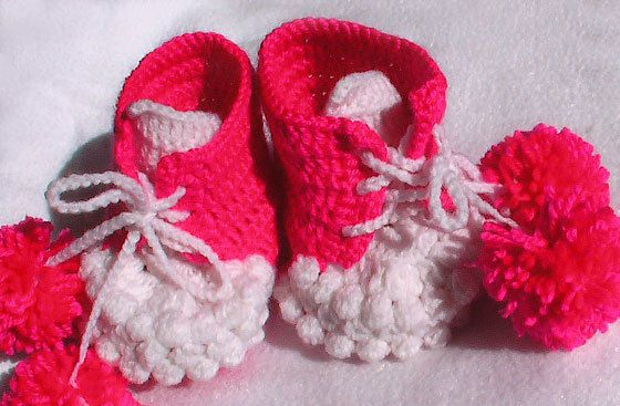 baby textile crochet booties goods