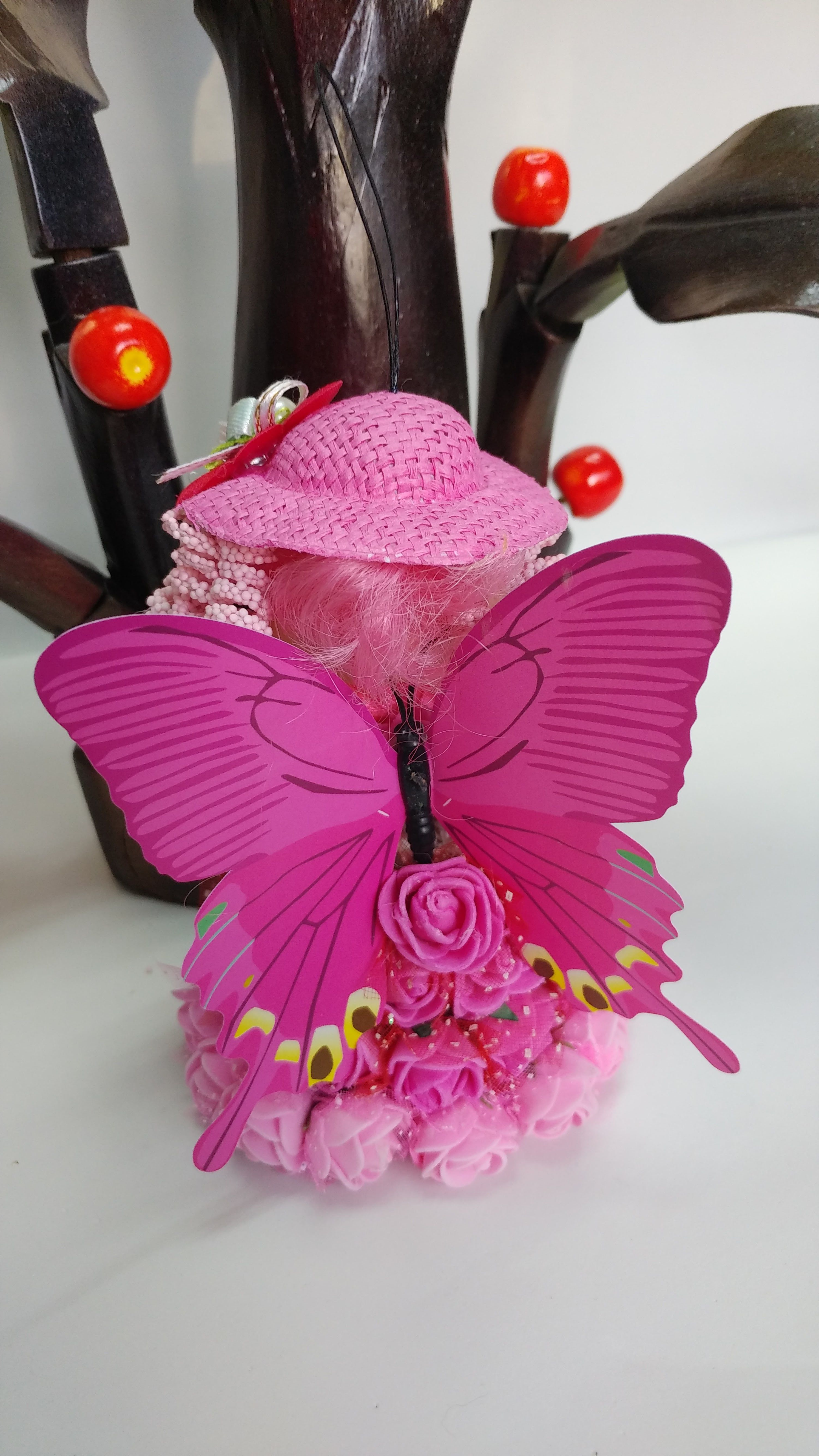 doll decor ornament gift angel tree butterfly christmas bell holiday
