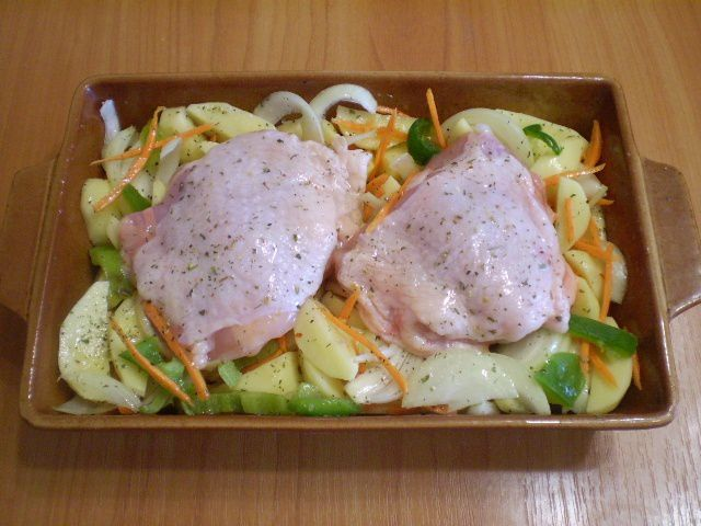 cookery oven cook chicken thighs