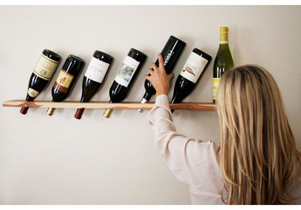wine handicrafts plank wood rack