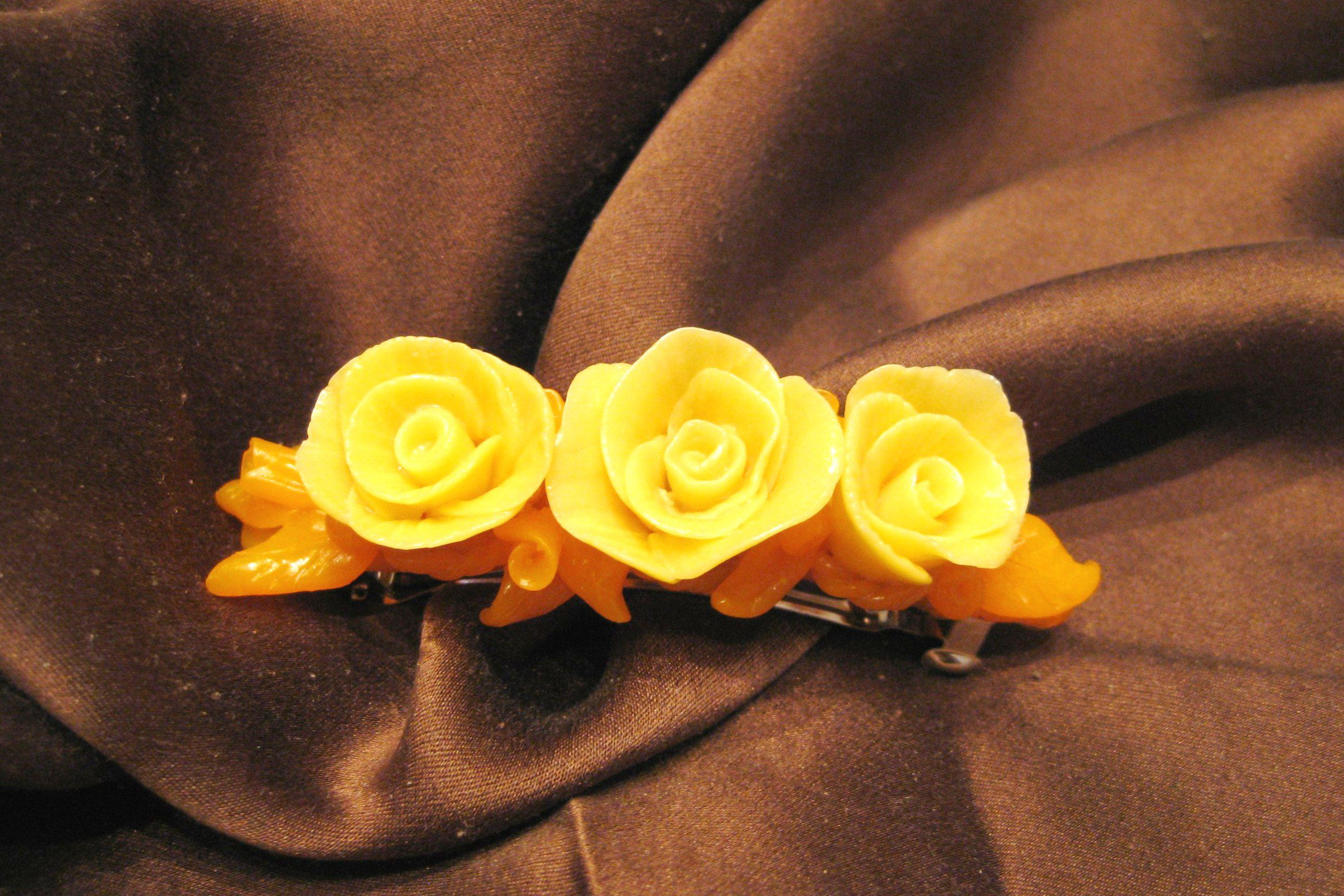 handmade flowers polymerclay creativity hairstyle bobbypin originalgift bijouterie