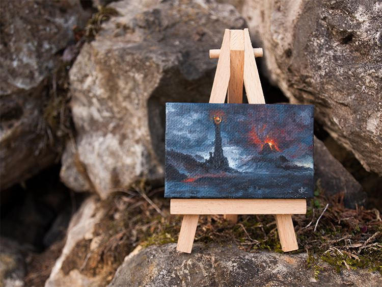 painting oil fantasy lordoftherings