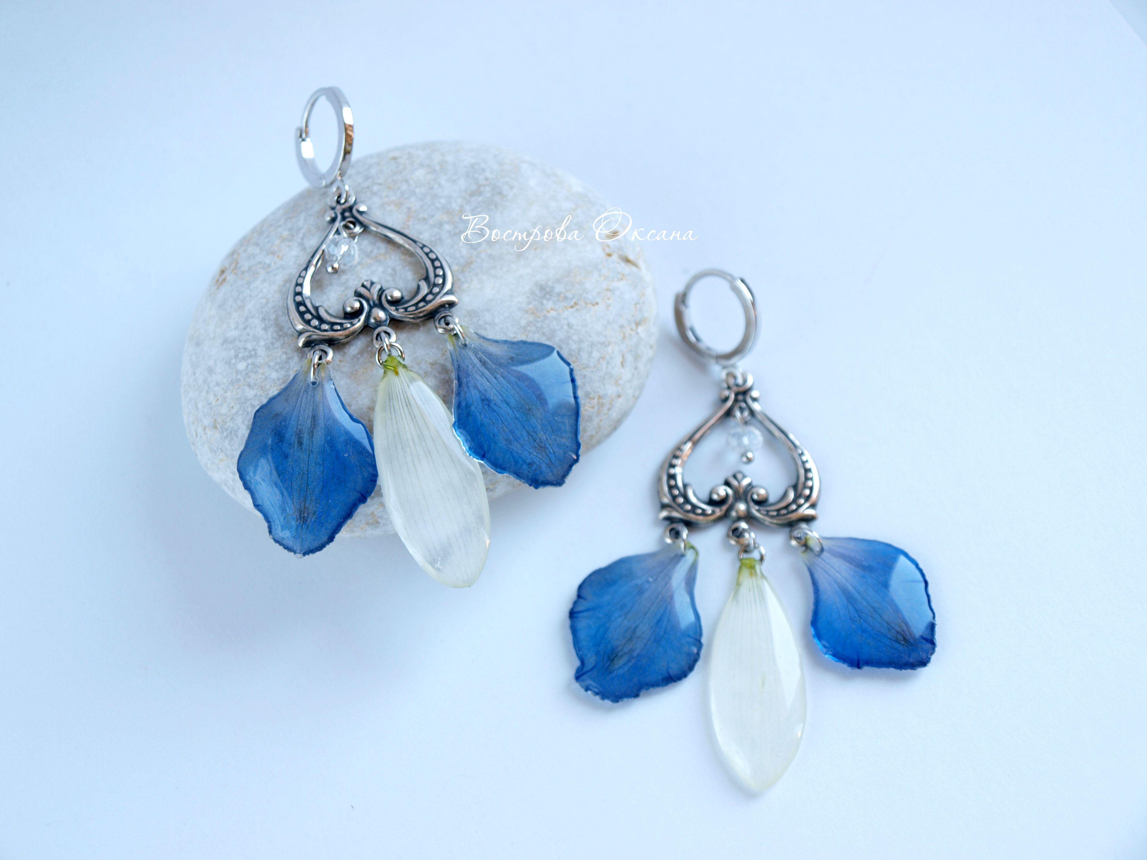 petals eardrops gift chrysanthemum jewelry handmade