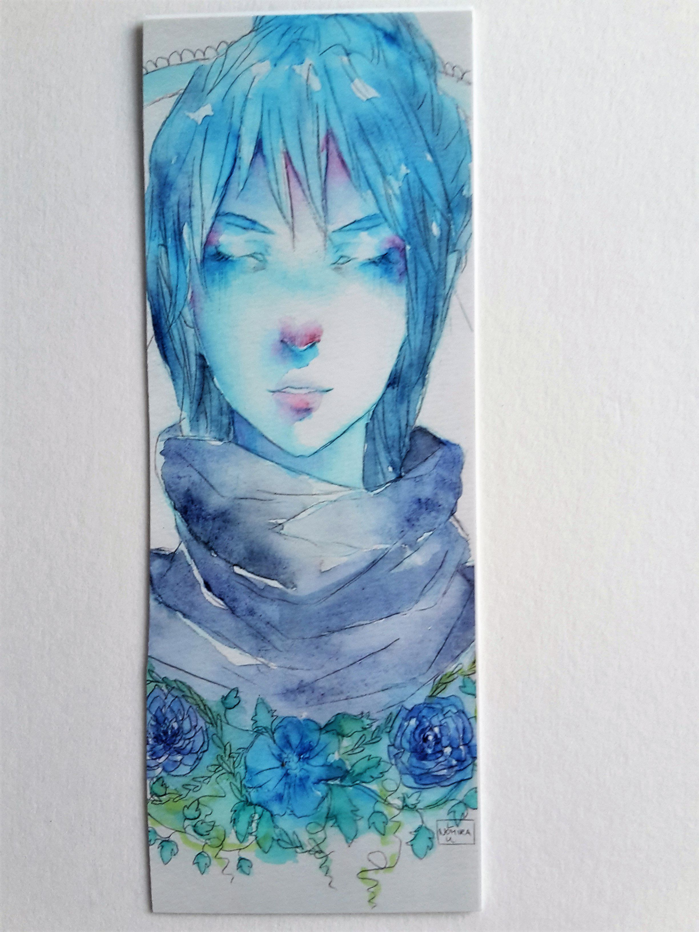 art flowers painting cute artist drawing watercolor anime manga bookmark reading
