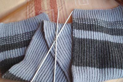 needles goods textile knit scarf