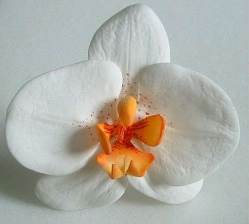 make flowers clay polymer from