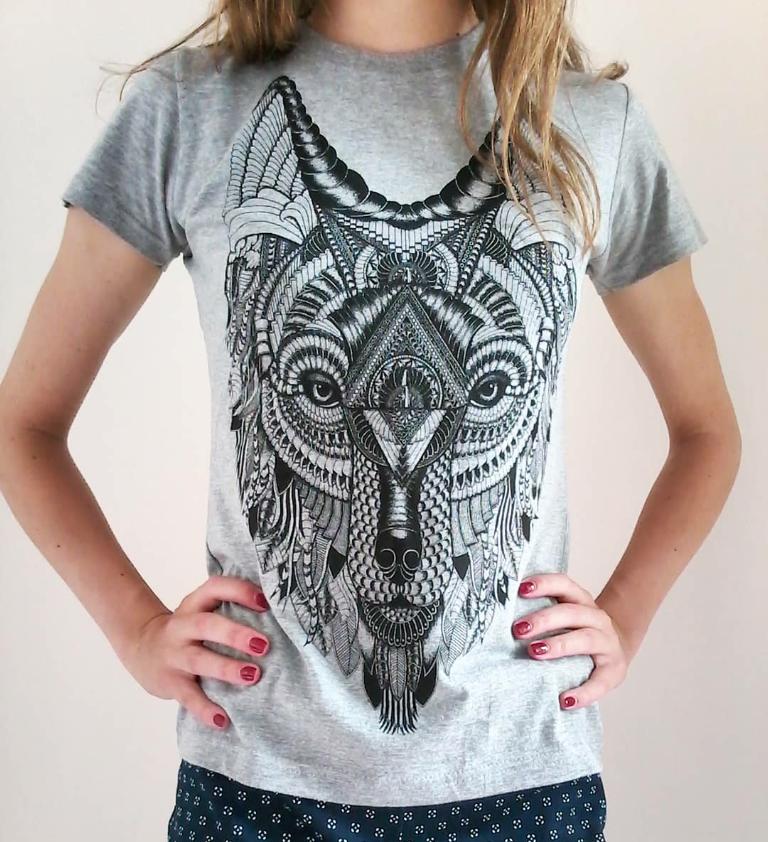 latvian grey shirt wolf hipster animal print artwork design