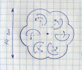 crafts semicircles pinwheels paper make