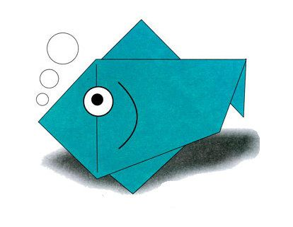 origami paper fish tutorial crafts simple
