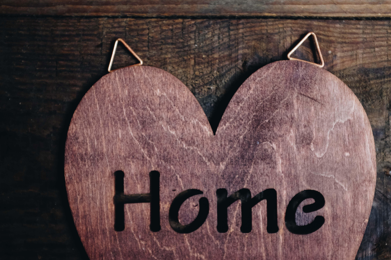 wooden wood holder organizer heart key