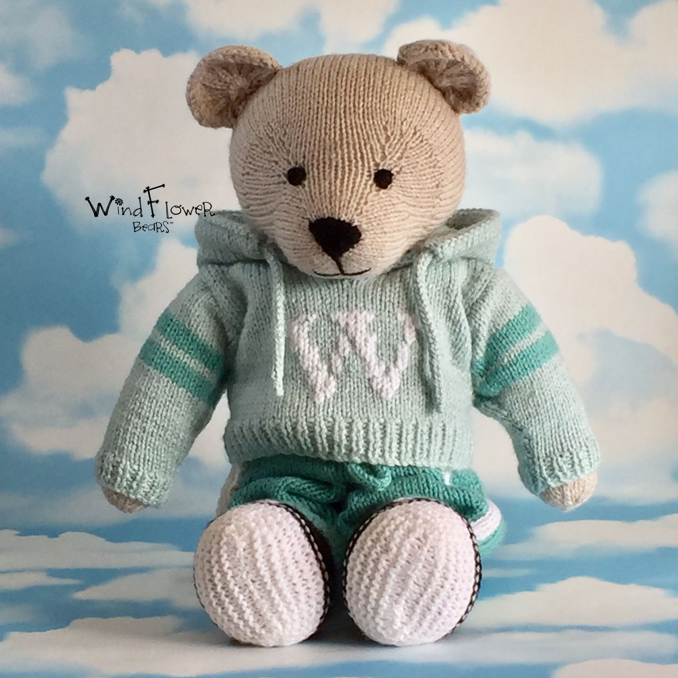 gift knitted handmade teddy