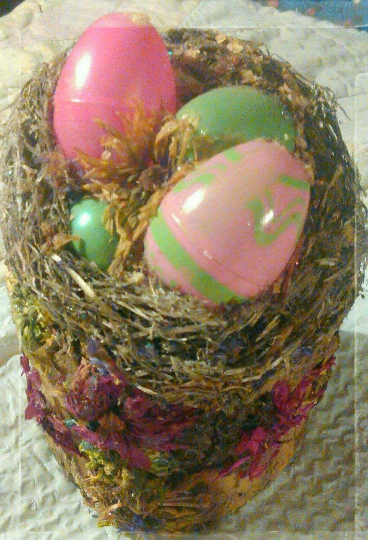 flowers decor decoration eggs nest home easter basket