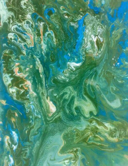 painting colorful dinosaur resindirtypour dirtypour
