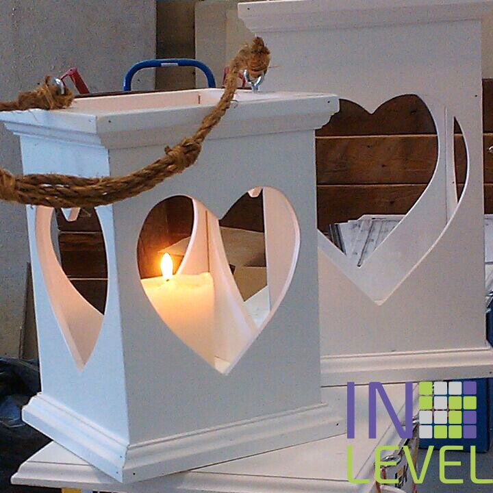 wood decor interior white holder candle