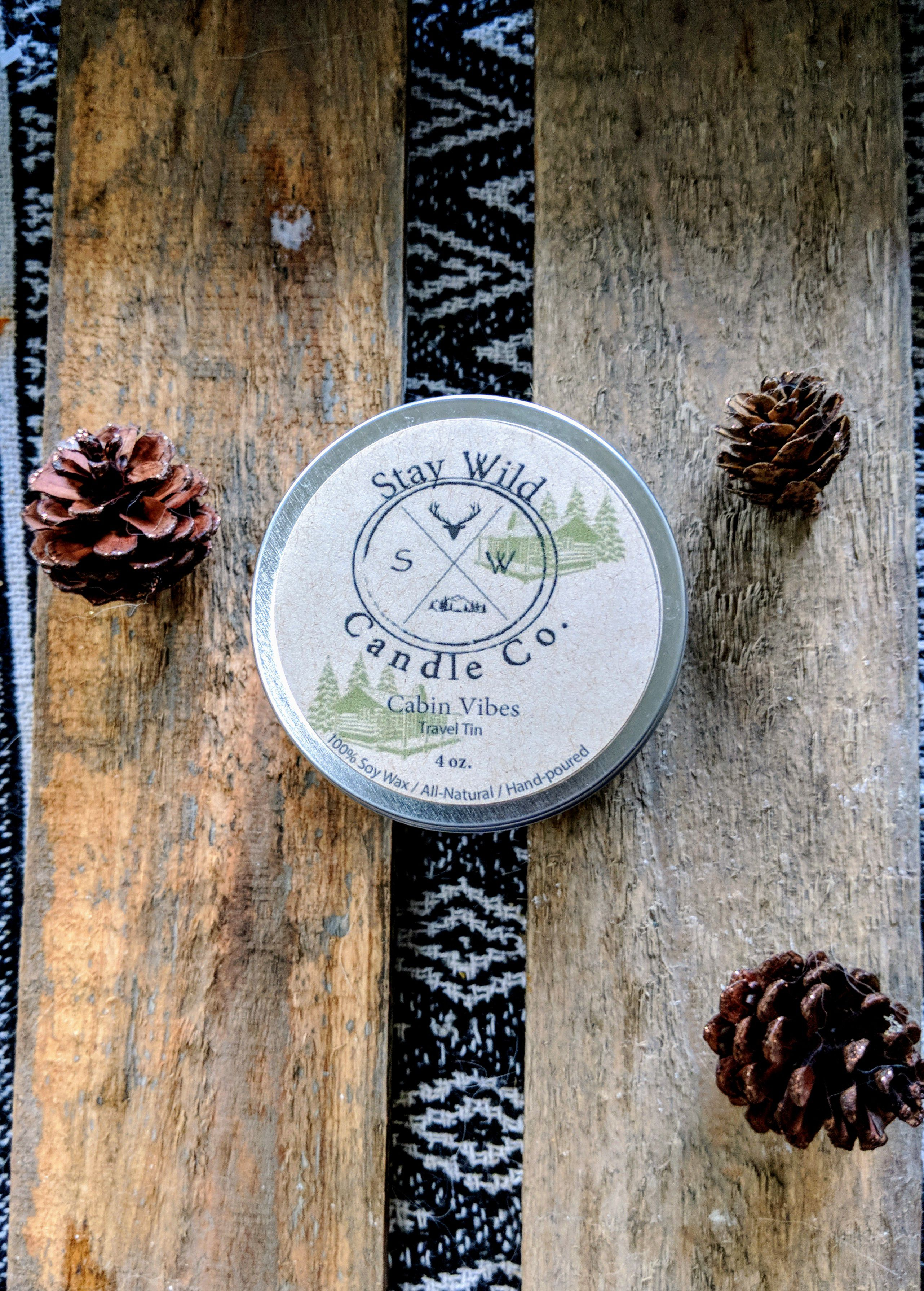 holiday candle gift soy outdoor travel woodsy christmas