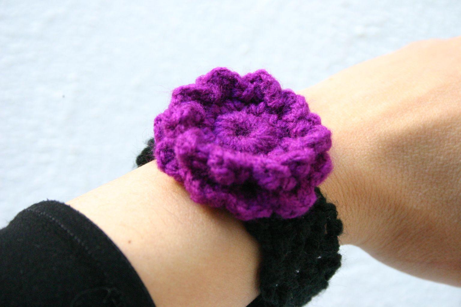 vintage jewelery boho bracelet cotton textile jewelry crochet accessory