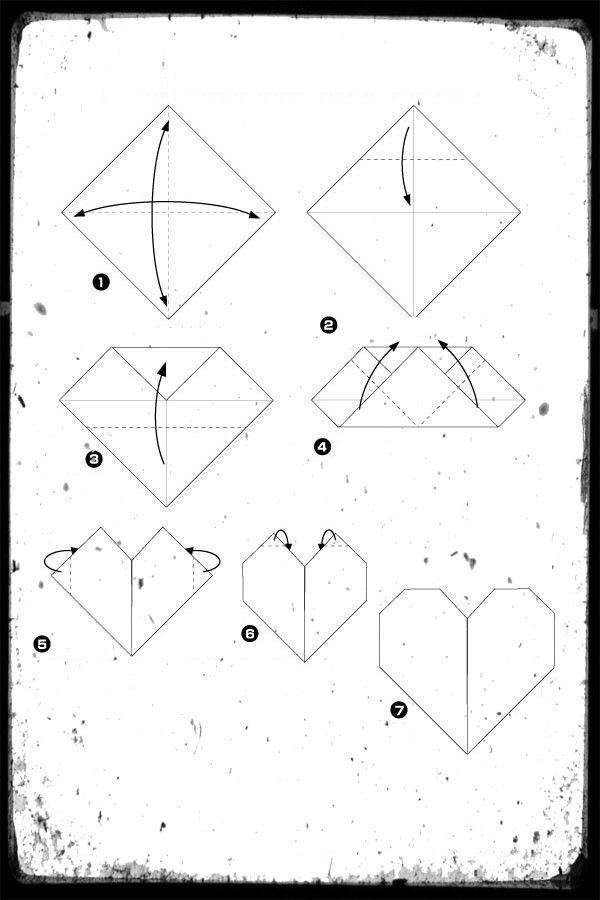 hack scheme heart origami paper