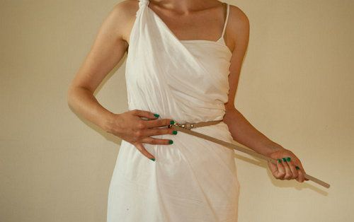 greece ancient strap toga make
