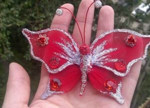 make manual accessories butterfly decoration
