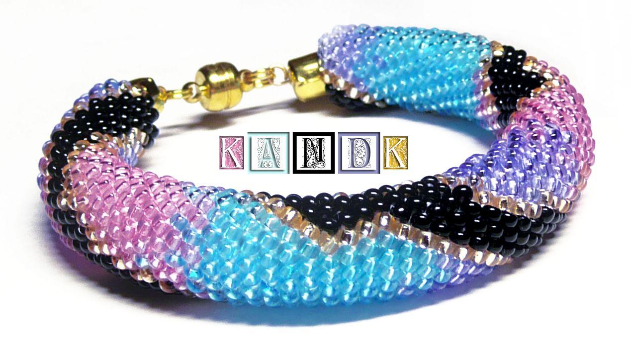 kandk bracelet violet snake