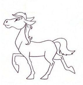 horse draw pencil steps cartoon art