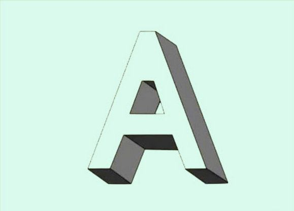 art 3d letters effect draw