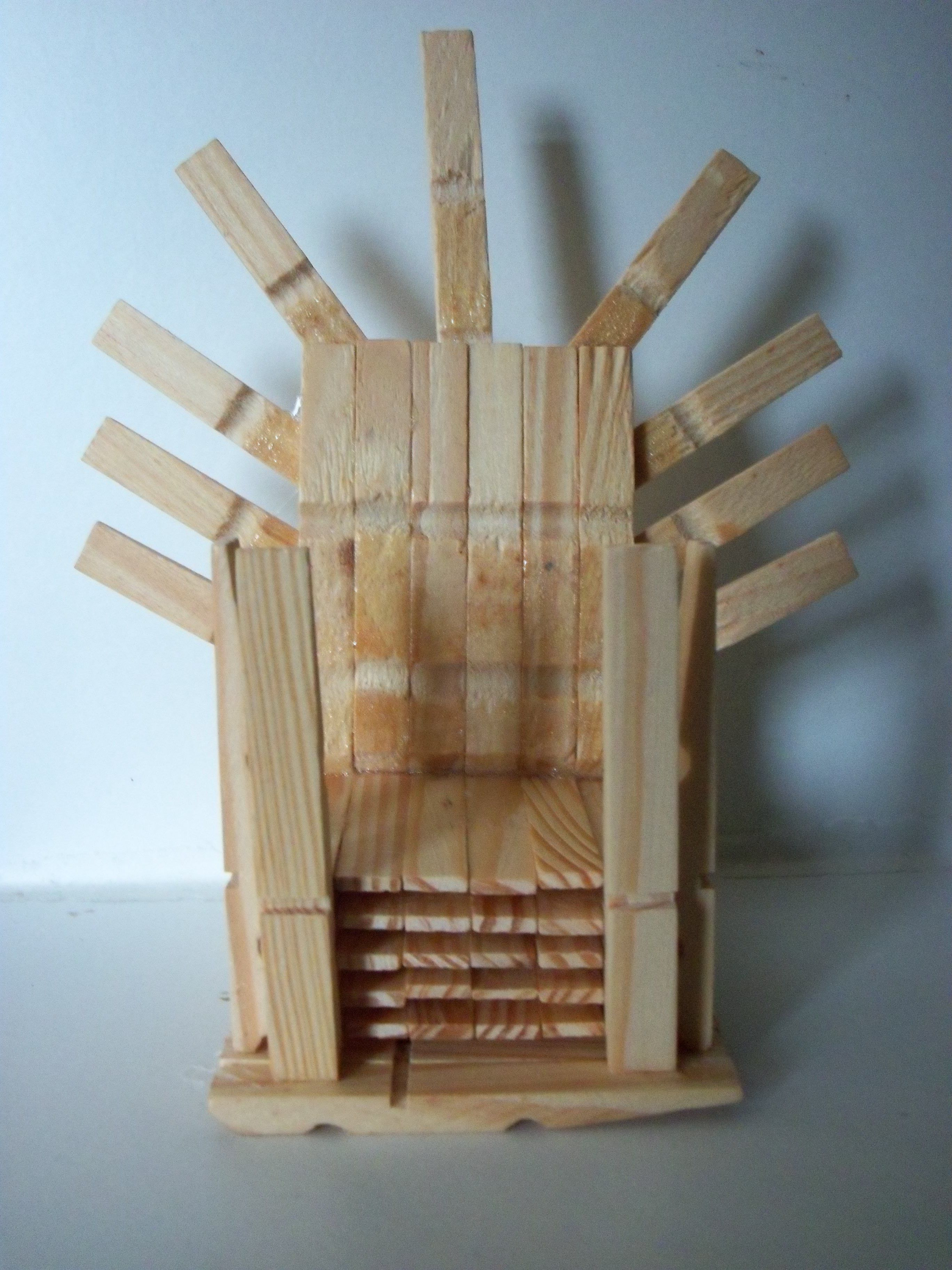 Fantastic Game Of Thrones Iron Throne Miniature Wooden Peg Chair Beutiful Home Inspiration Ommitmahrainfo