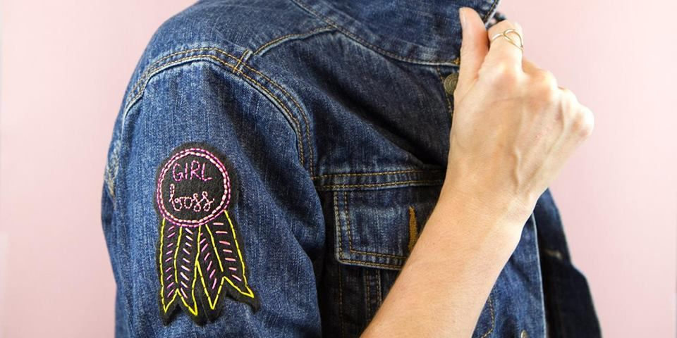 blick patch embroidered