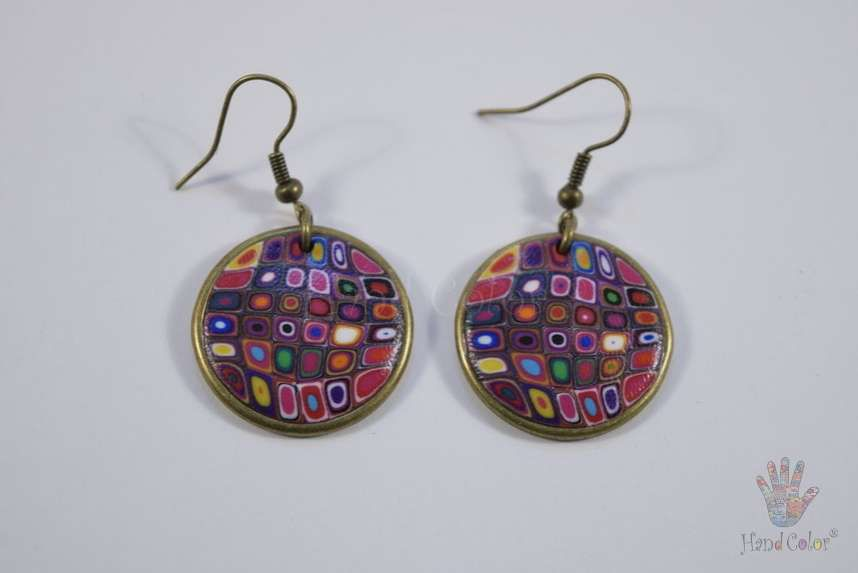 tradition accessories fashion portuguese klimt gustav original round handcraft jewelry jewellery beauty handmade polymer clay bijouterie