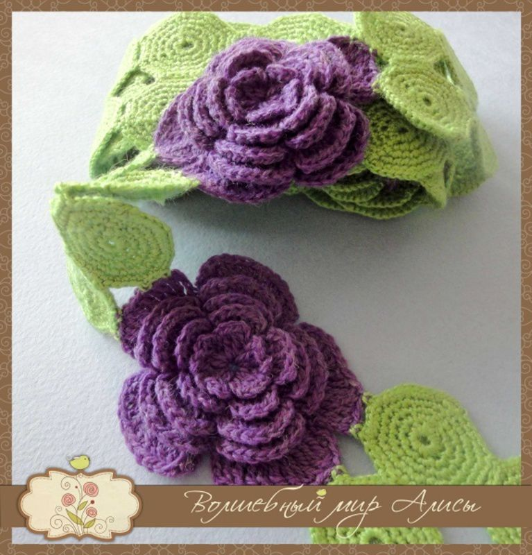 accessories clothes violet scarf knitting