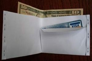 wallet paper a make to how