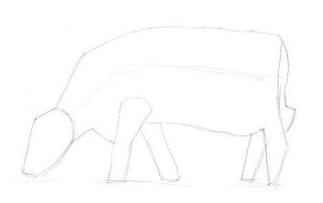 cow draw pencil steps art