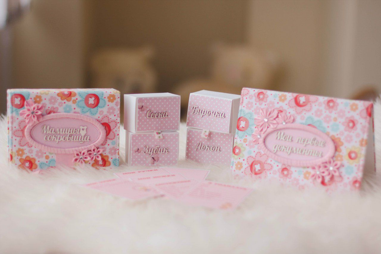 photo notes kids box mom scrapbooking pink
