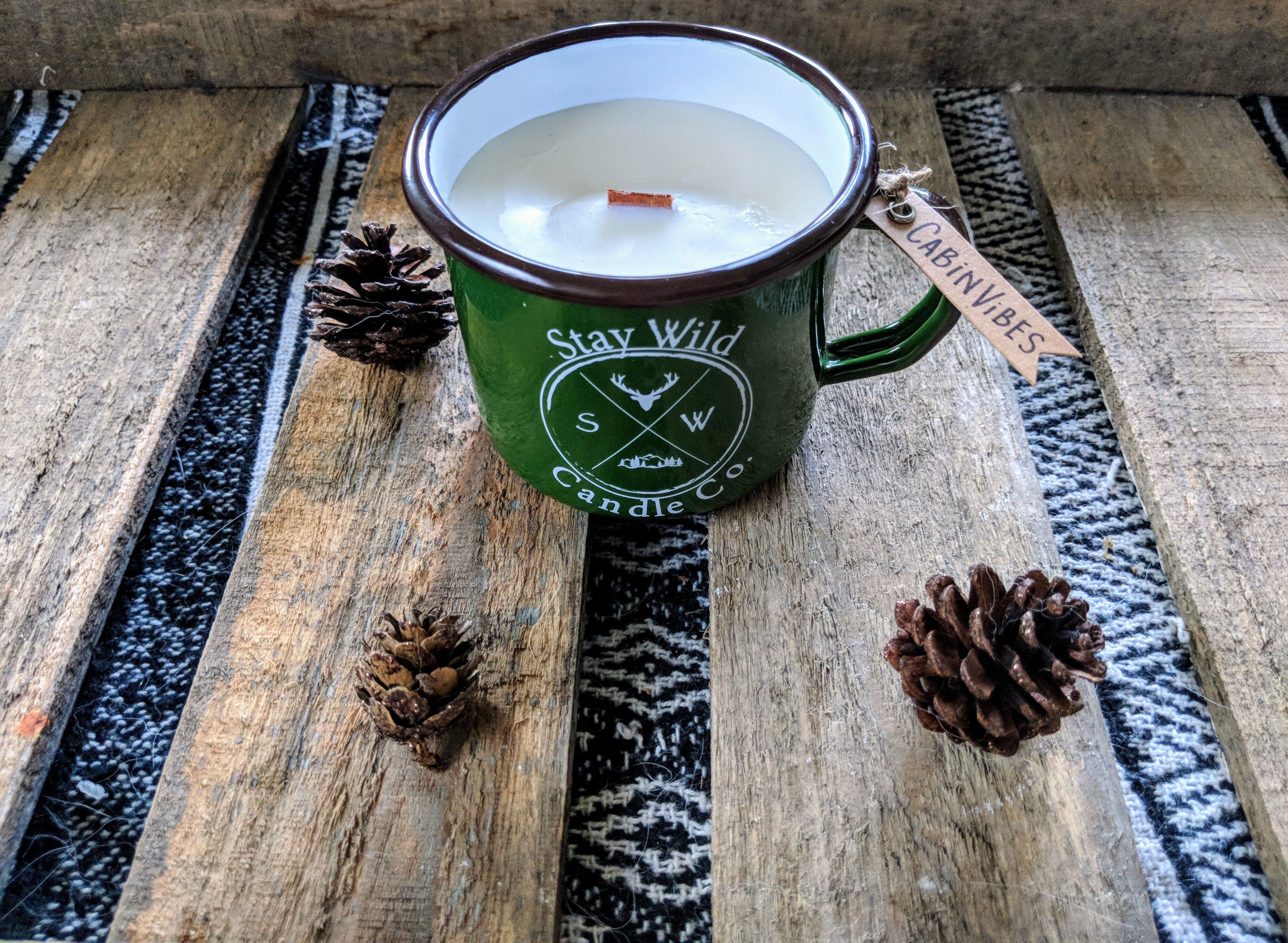 holiday candle scents wick gift candles soy woodsy christmas wood winter
