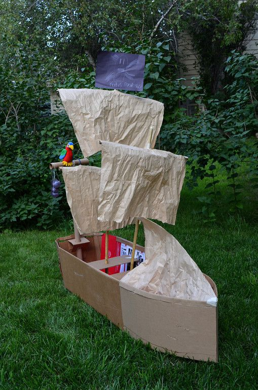 boat paper cardboard crafts make