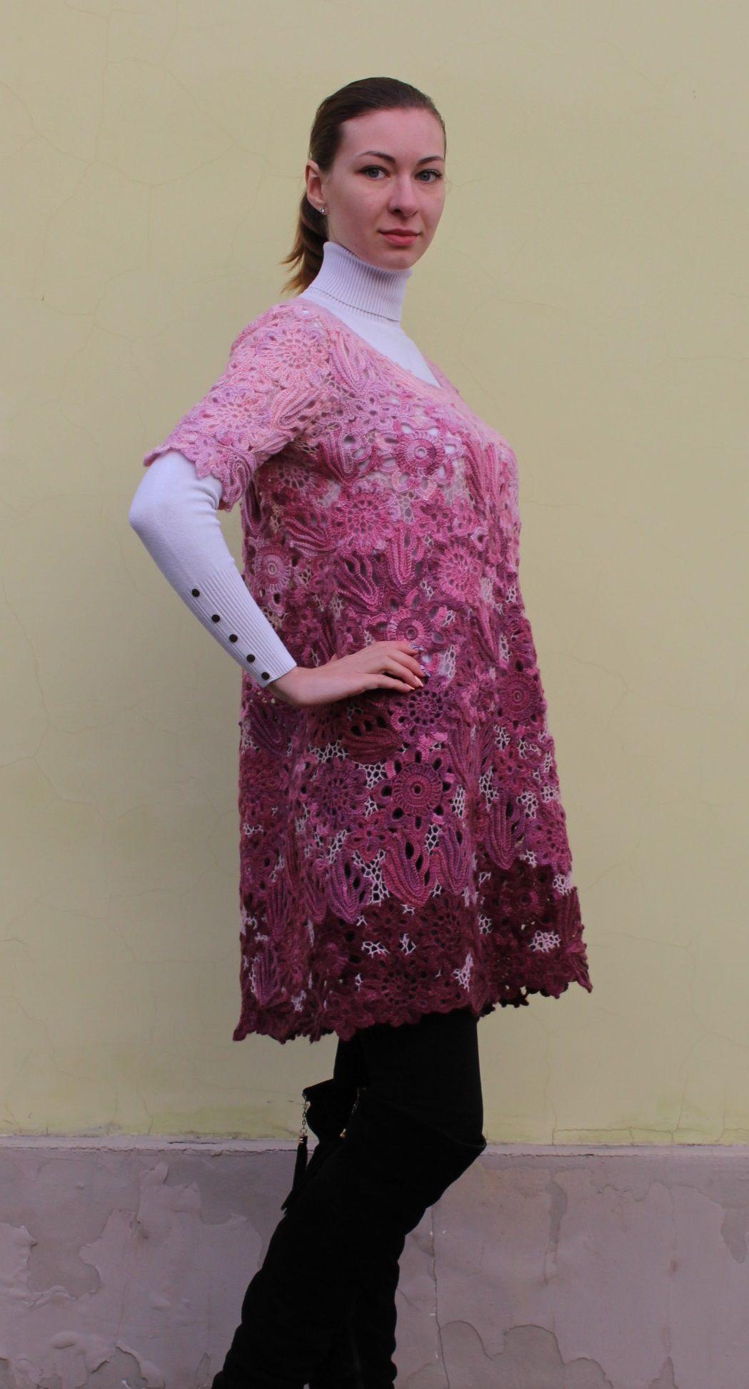 violet clothes knitting dress women