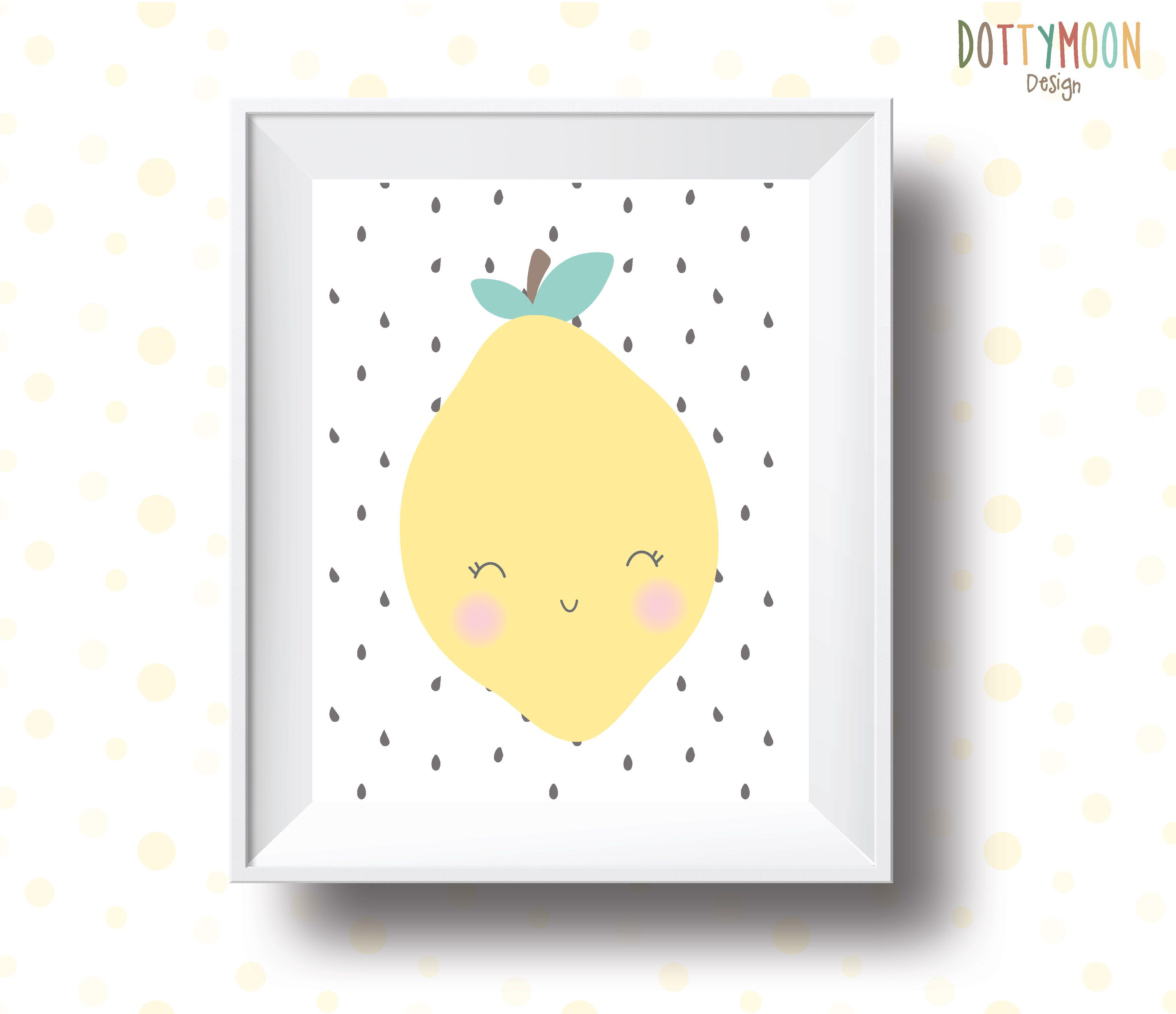 Lemon , print,children wall art
