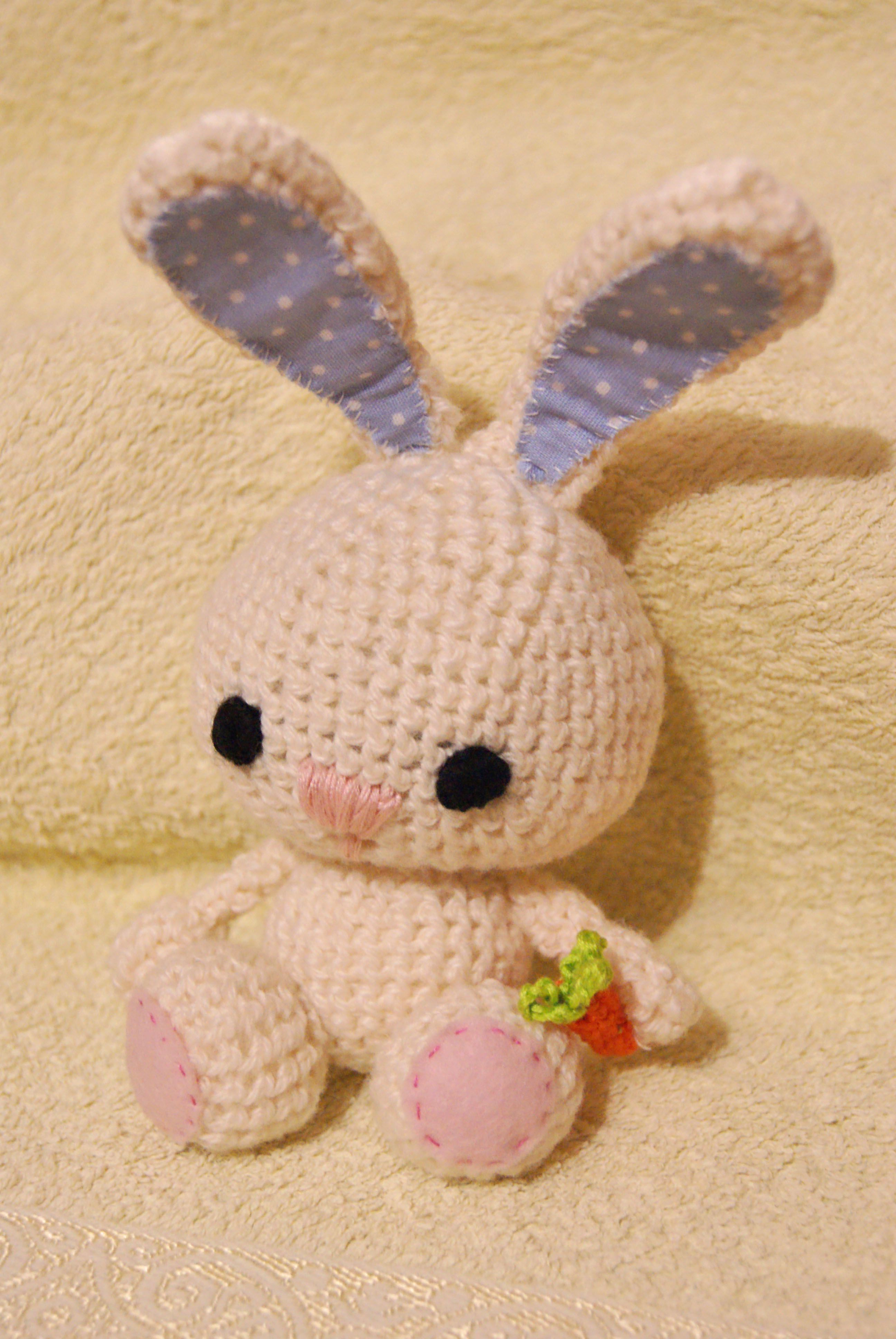 toy gift warm bunny coziness knit carrot