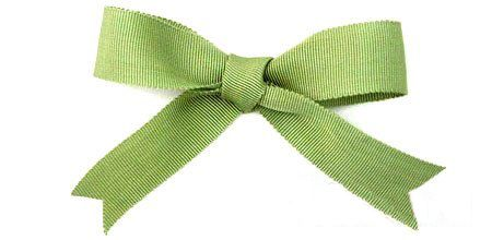 traditional bow layered ribbon strict