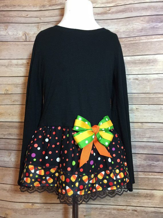 black orange girls shirt dress tshirt tunic