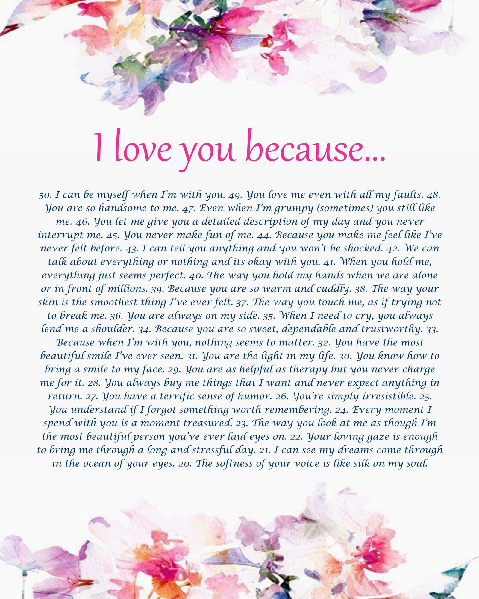 love gift present for anniversary personalized reasons you her girlfriend boyfriend because wife