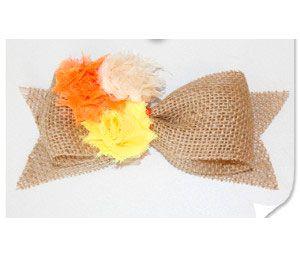 burlap materials make bow accessories