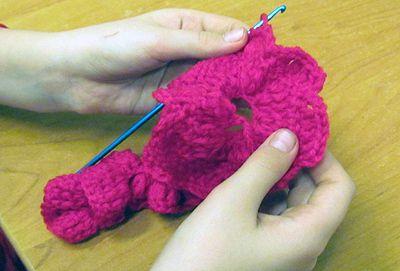goods crochet textile pattern rose