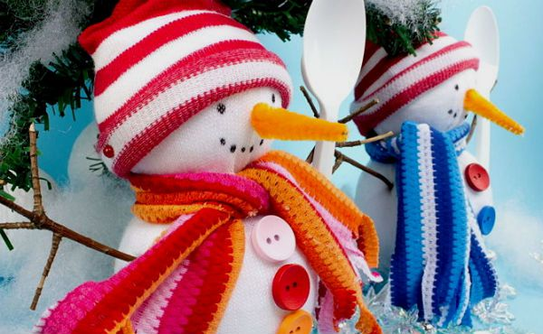 toy snowman sock soft make