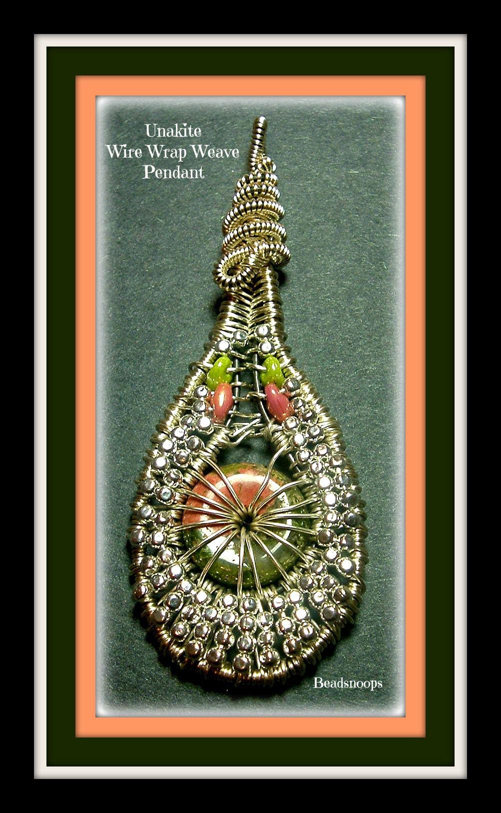 handmade beadsnoops wirewrapweave gemstones